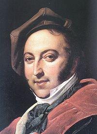 Il compositore Gioachino Rossini, nato a Pesaro nel 1792