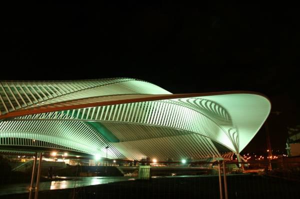 L´avveniristica stazione ferroviaria Liège-Guillemins