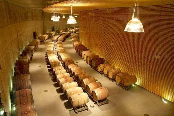 Botti in rovere custodiscono i preziosi vini di Maso Poli