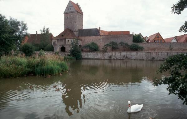 La porta di accesso alla città di Dinkelsbühl