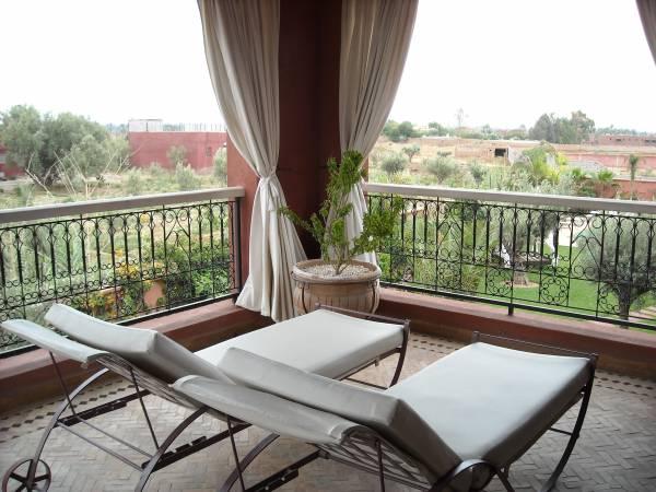 La terrazza di una delle suite dell´El MIria Palais