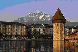 Il Monte Pilatus visto da Lucerna