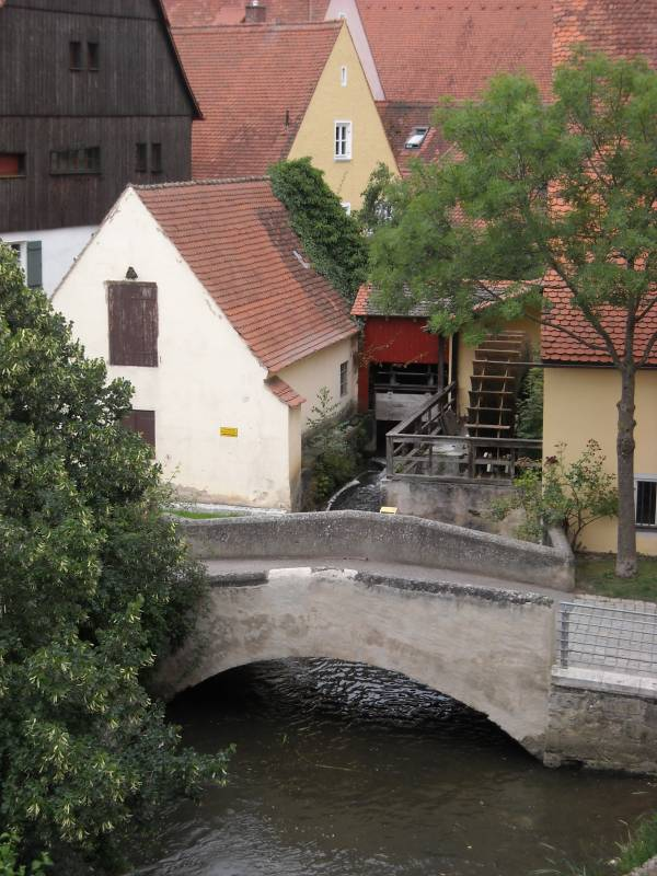 Uno scorcio dalle mura di Nördlingen
