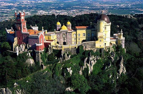 Una magica veduta di Sintra